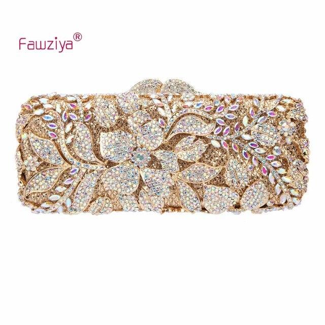 f01b4901e0f Fawziya Flower Purses For Girls Bling Rhinestone Crystal Clutch Bag ...