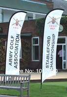 Beach Flag 340X85cm Two sides printing Feather Flag with free shipping (Cross base)