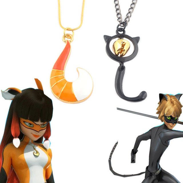 Miraculous Ladybug Cat Noir Volpina Fox Cosplay Necklace Men Women