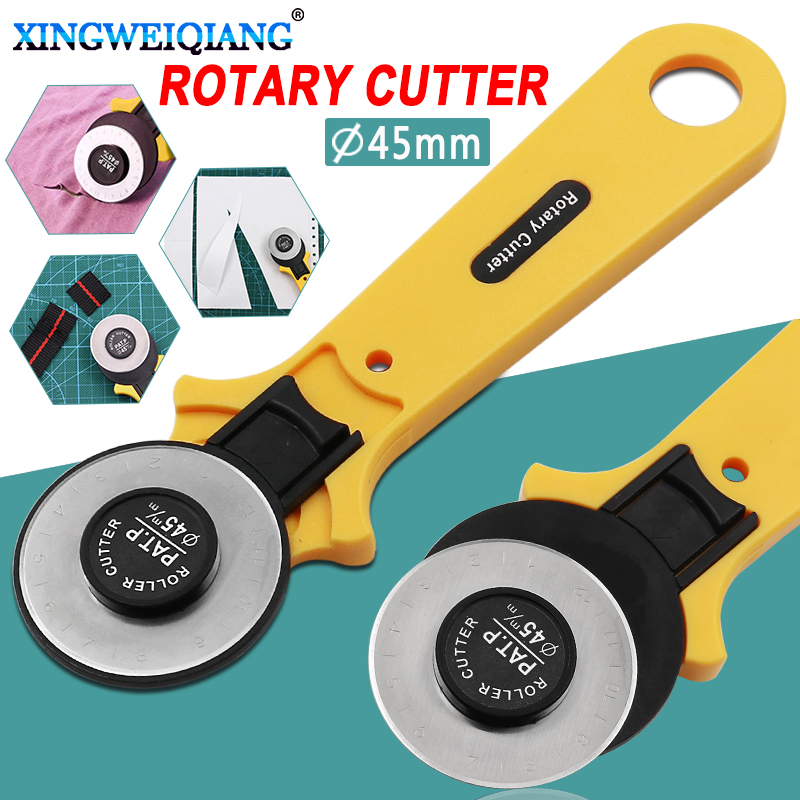 28mm 45mm Patchwork Roller Wheel Round Knife Cloth Cutting Knife Knife Leather Craft Fabrics Rotary Cutter For Leather Fabrics