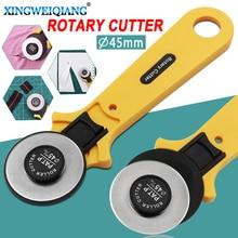28mm 45mm rueda de rodillo de retales cuchillo redondo cuchilla para corte de tela cuchillo cuero artesanía telas cortador rotatorio para telas de cuero