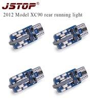 JSTOP 4X 2012 model XC90 led Car rear running light 12 24V T10 W5W bulbs led No error canbus Lights External Lights w5w light