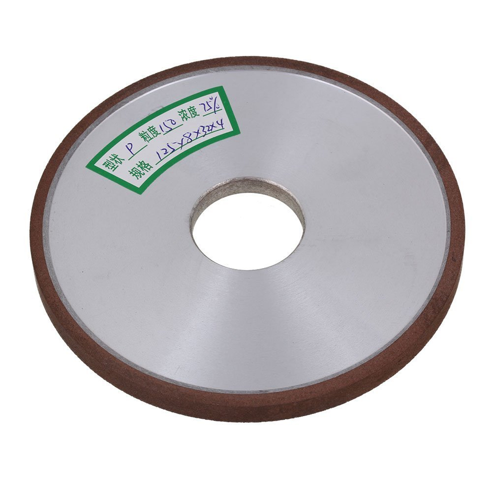 150# Grit Flat Disc Straight Silver 125x8x32mm Diamond Aluminum Resin Grinder Grinding Wheel With