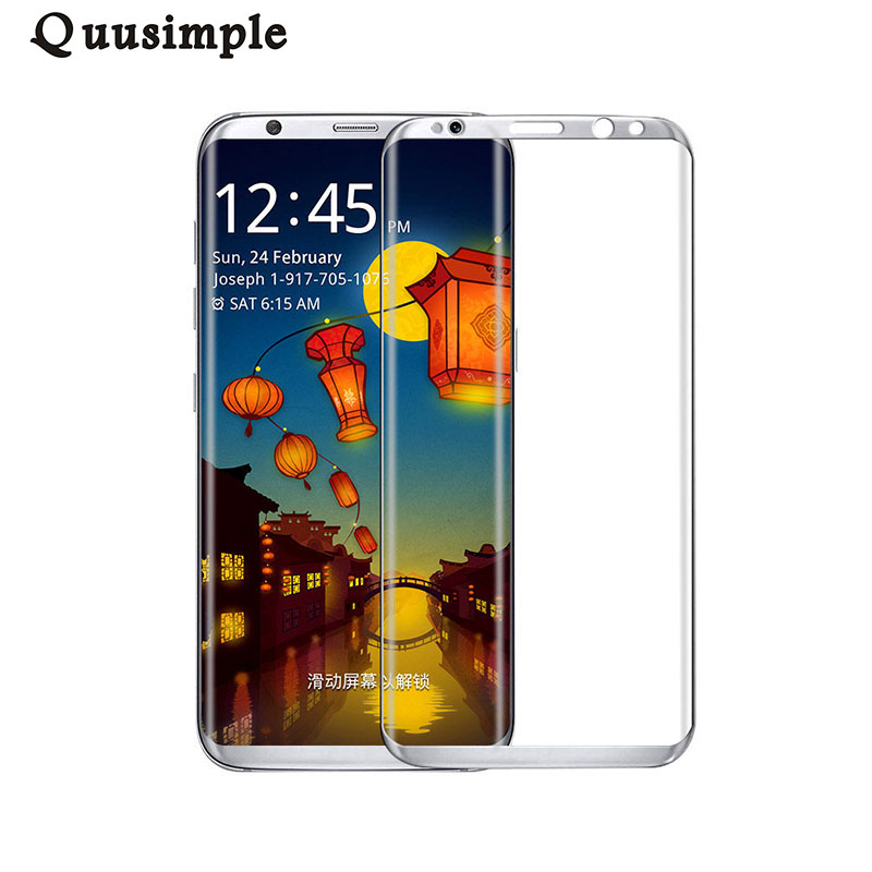 For Samsung Galaxy S8 S8 Plus Tempered Glass Case Cover Slim 3D Full Screen Protector For Samsung S8 Plus Mobile Phone