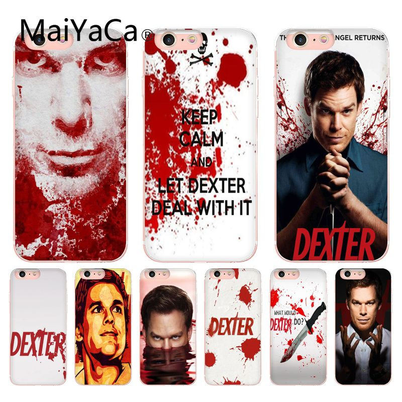 MaiYaCa Dexter Keep Calm and Let Dexter Deal Protector Phone Case For iphone X 8 8plus Transparent Case cover And 7 7plus 6 6s