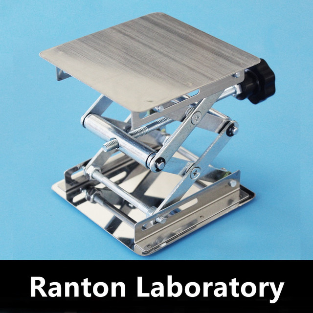 Free Shipping 1 unit Small lifting platforms Hand operated stainless steel height size 100/150/200mm