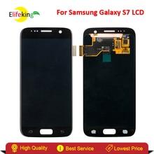 Elifeking 100% тестирование Super AMOLED для Samsung Galaxy S7 G930 Сенсорный экран планшета Ассамблеи телефон Аксессуары для Galaxy S7