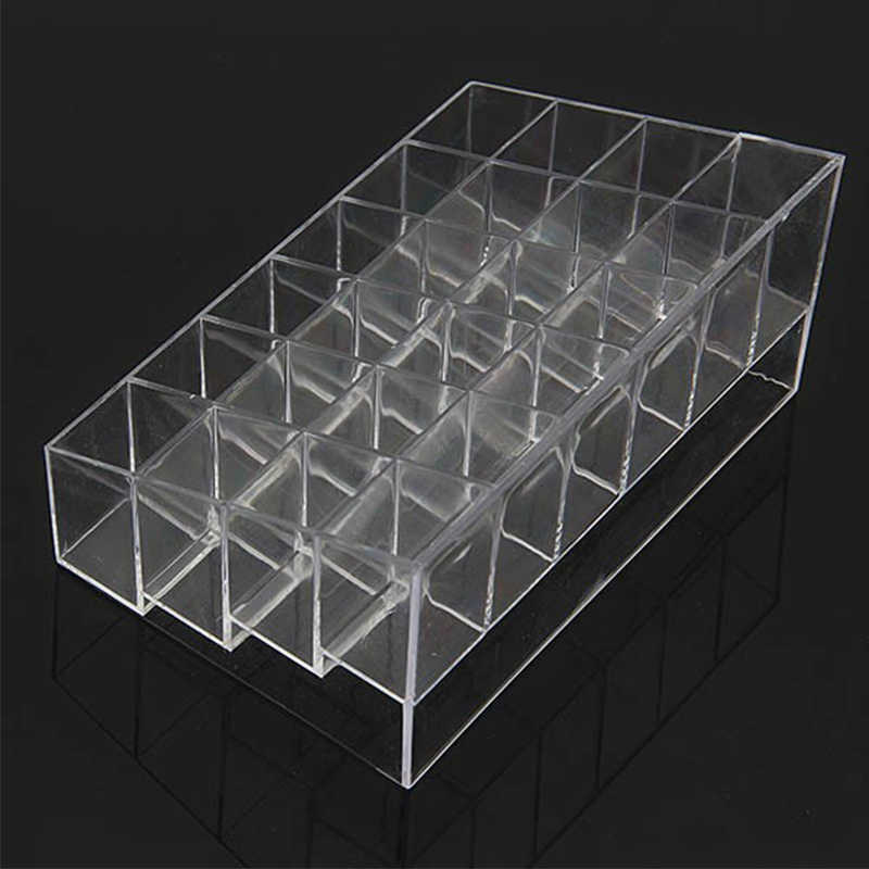 Transparante Plastic Clear Acryl 24 Lipstick Concealer Mascara Holder Display Stand Cosmetische Organizer Make Geval 1Pcs