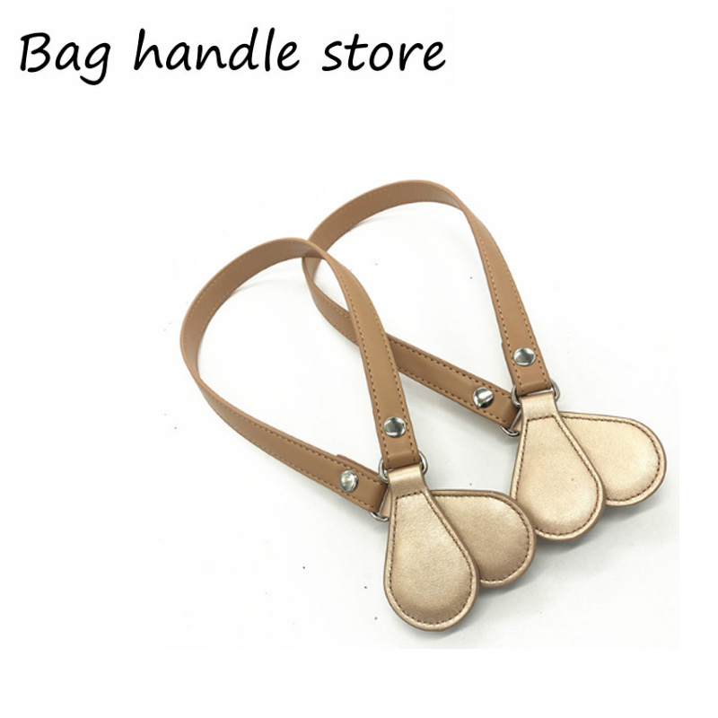 For Obag 1 Pair 70cm PU Leather Handles For O Belt With Drops Ends