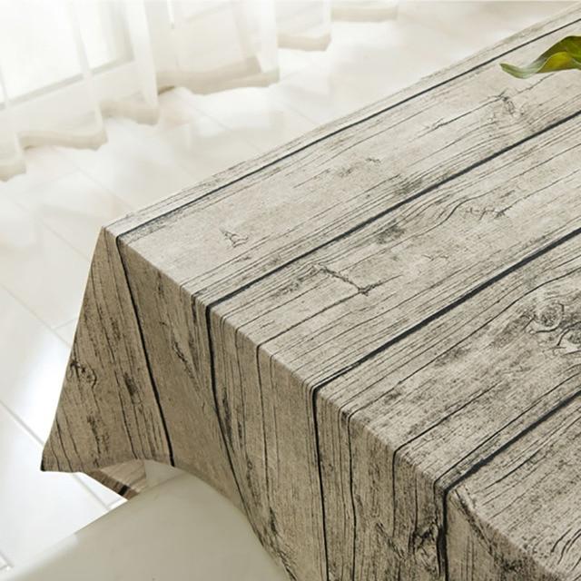 Linen Table Cloth Europe Wood Home Outdoor Party Cover Toalha De Mesa
