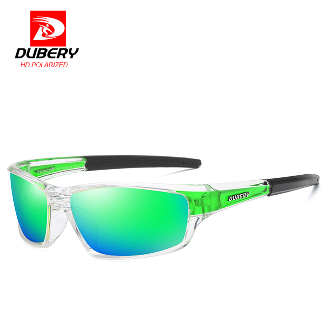 DUBERY Night Vision Sunglasses Men's Polarized Driving Sun Glasses For Men Square Sport Brand Luxury Goggles Shades Oculos UV400