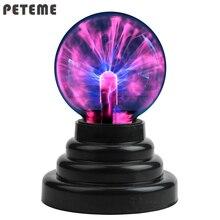 Плазменный шар Глобус волшебная луна лампа USB Электростатическая Сфера лампочка сенсорная Новинка игрушка проект спа