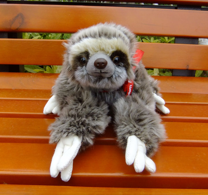 Cute Sloth  Doll  Children'S Toys  Simulation Plush Toy Animals  Tie Three-Toed Lazy  Gifts Good Quality plush big toy animals simulation hedgehog doll cute queen stuffed toys for children christmas gift pillow good quality