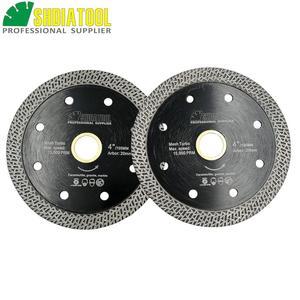 Image 1 - SHDIATOOL 2 piezas diamante prensado en caliente sinterizado disco de corte de malla de baldosa Turbo hoja de mármol Rueda de corte Sierra de múltiples materiales hoja