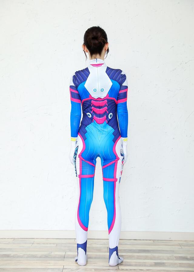 2019 Halloween costumes 3D Printing Overwatches Lady D VA Costume for women plus size Cosplay dva Zentai Spandex Dva Bodysuit 3
