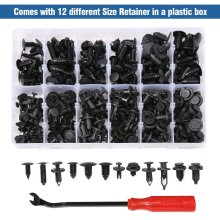 240pcs 12type Plastic Car Styling Rivets Push Pin Weatherstrip Moulding Clip Set For Jeep Liberty Renegade Wrangler Commander
