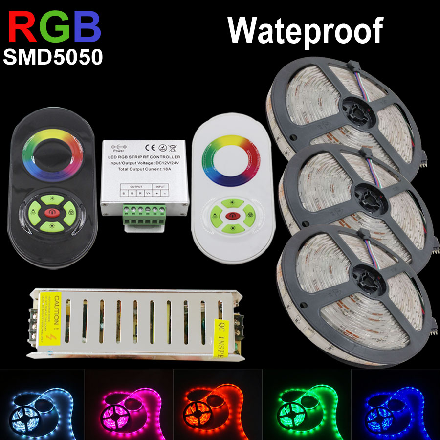 10m 15m ip65 rgb ruban led strip 5050 waterproof ribbon. Black Bedroom Furniture Sets. Home Design Ideas