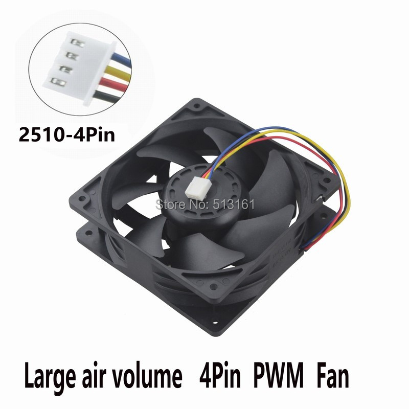 Gdstime Computer <font><b>Fan</b></font> 12cm <font><b>120mm</b></font> 12038 DC <font><b>Fan</b></font> with FG <font><b>PWM</b></font> 2.0A 5300RPM High speed Cooling Cooler <font><b>Fan</b></font> image