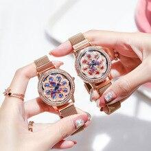 Brand women's watch to run peacock wheel Japanese movement copper case steel mesh belt