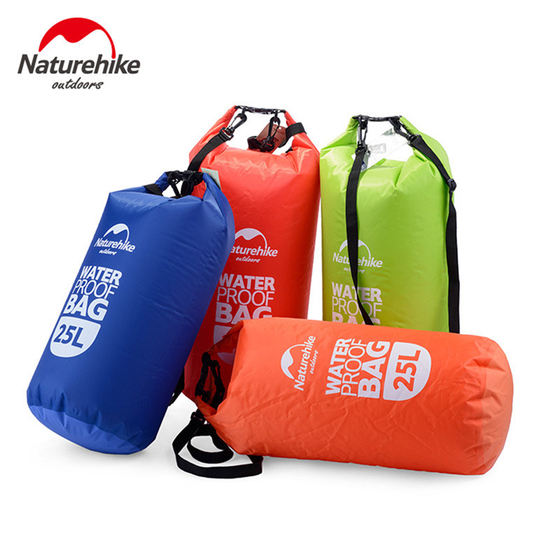 4 Colors Quality Naturehike Brand 15/25L Outdoor Ultralight Waterproof Storage Bag Rafting Sports Swimming Bag Camping Swimming