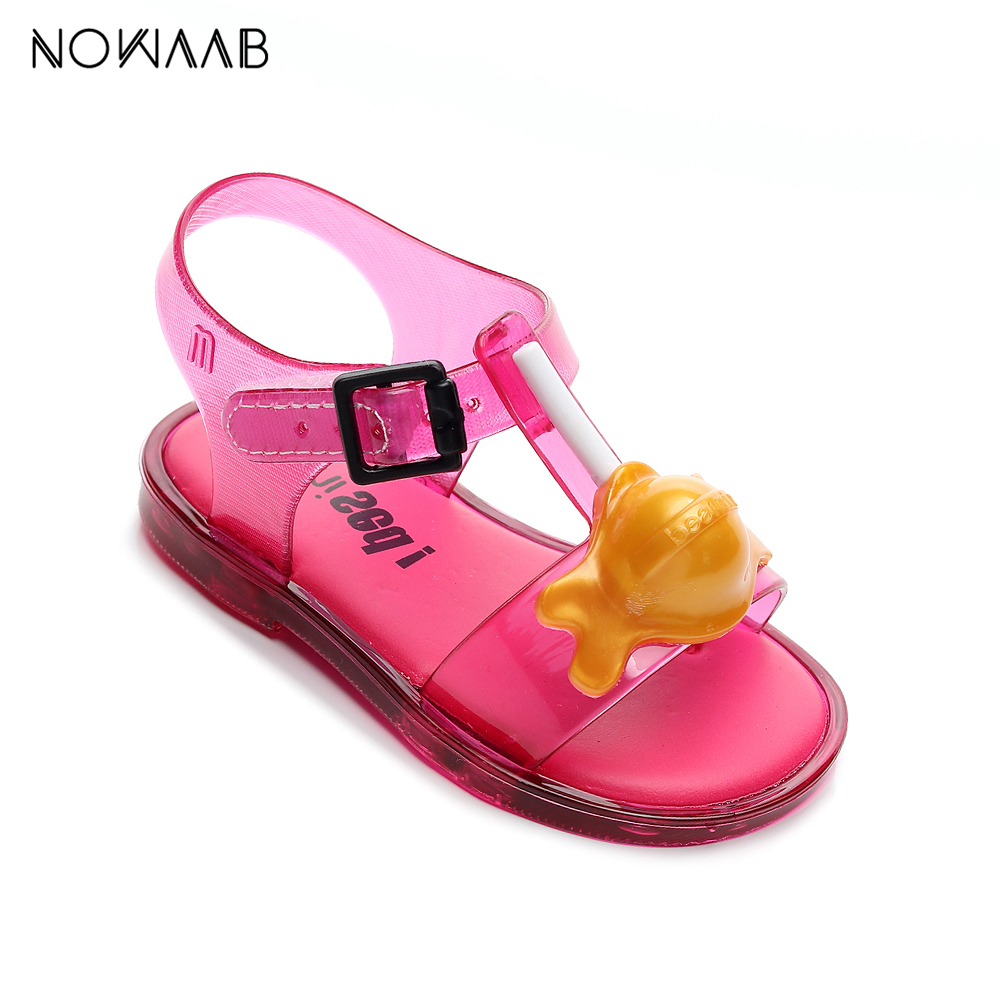 Mini Melissa Lollipop Girl Sandals 2019 New Original Girl Jelly Sandals Kids Sandals Children Beach Shoes Non-slip Toddler Shoes