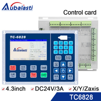 Vibration knife control card TC6828 4.3inch powser supply DC24V3A support x axis y axis z axis