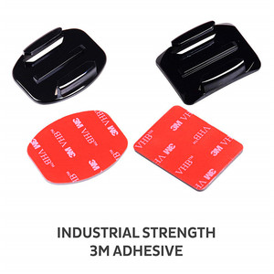 Image 4 - Adhesive Mounts For GoPro 8 7 6 5 4  Curved Flat Mounts 3M Sticky Pads for Go Pro Xiaomi Yi SJCAM Action Camera Helmet Board Car