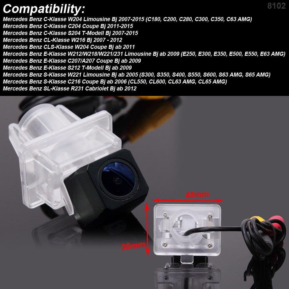 HD 1280*720 Pixels 1000TV line For Benz C E S SL class W204 C204 S204 W212 W218 W221 W221 C216 car rearview back parking camera