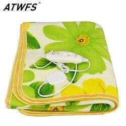 ATWFS безопасное плюшевое одеяло с подогревом для одной кровати, электрическое одеяло с подогревом для кровати, теплые ковры с подогревом, 150*70...
