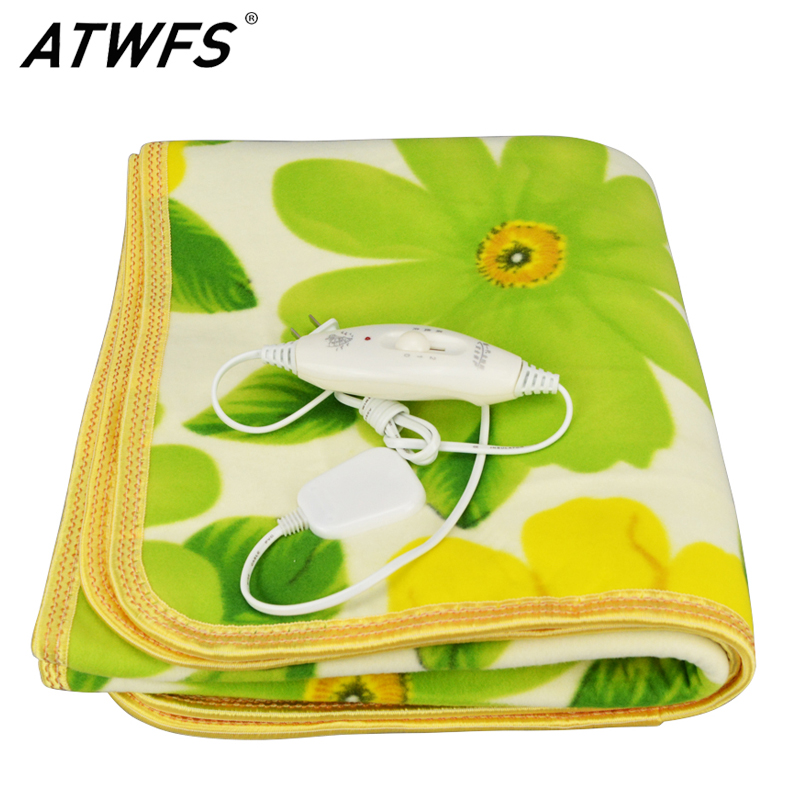 ATWFS Security Single Bed Plush Electric Heated Blanket Electric Heating Blanket Bed Body Warmer Carpets Heated Carpet 150*70 CM