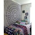 Tapicería de la pared Elefante Impreso Bohemio Chal Rectangular Mandala Tapiz Tapiz Colcha de Arte Étnico ZQ879787