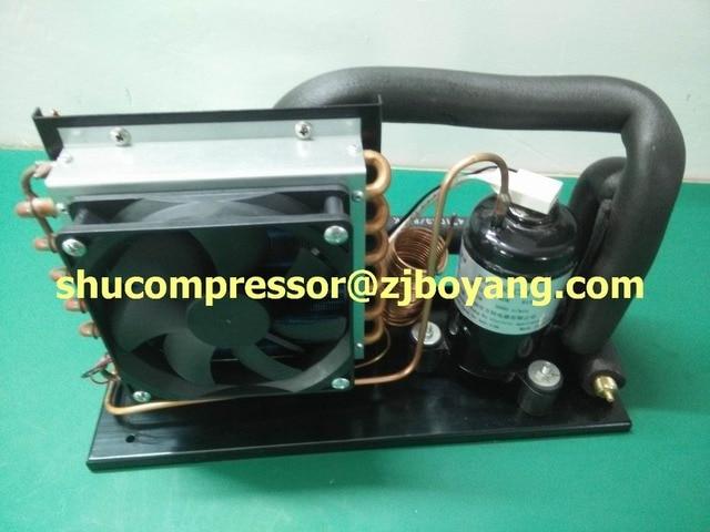 Auto Kühlschrank Mit Kompressor : V super mini kompressor verflüssigungssatz mit für tragbare