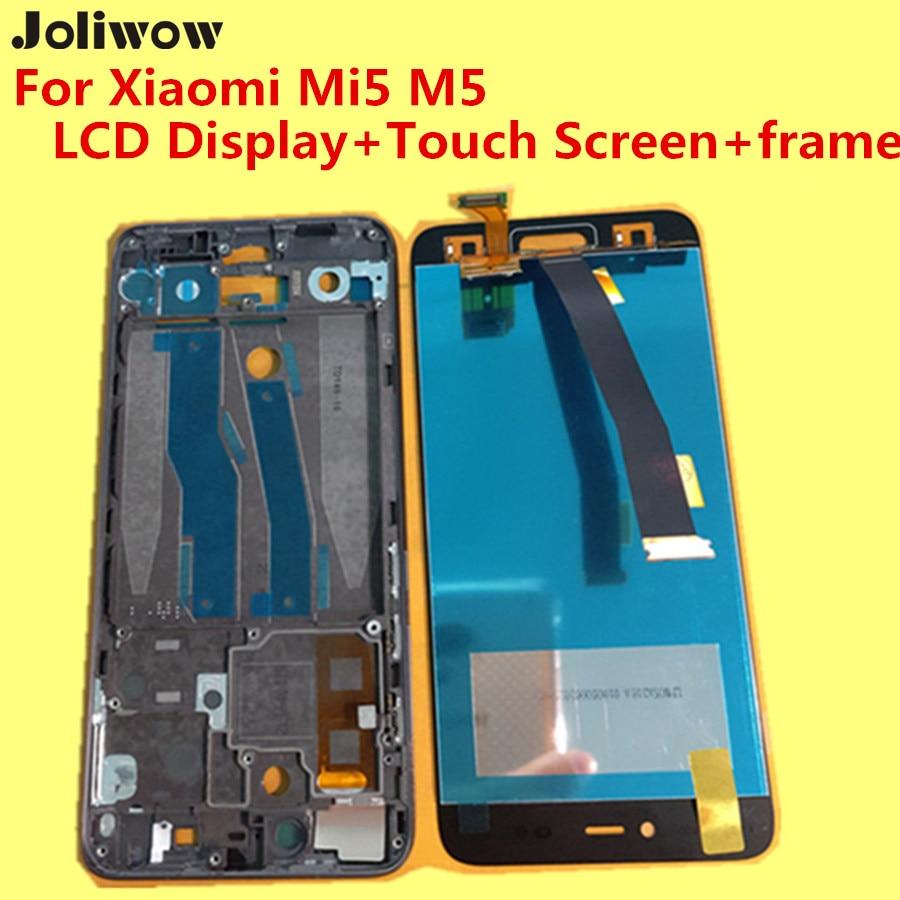 imágenes para Probado! para Xiaomi Mi5 M5 LCD Display + Touch Screen + frame + herramientas Reemplazo Digitalizador Asamblea Lente de Cristal