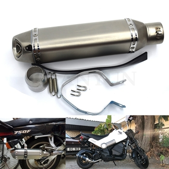 for Motorcycle parts Exhaust Universal 51mm Stainless Steel Motorbike Exhaust Pipe FOR Honda Big Sheep FJS400 FJS600