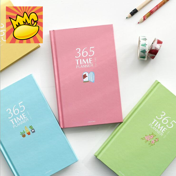 Cute 365 Planner Agenda Scheduler Diary Hard Cover Yearly Monthly Planning Papers Journal Notebook color magic b5 big planner agenda scheduler lined papers diary with pen journal study notebook