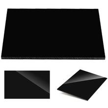 Глянцевый чисто черный пластиковый лист из плексигласа акриловая доска органическое стекло полиметил метакрилат 1 мм 3 мм 8 мм толщина 200*200 мм