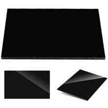 Glossy Pure Black Plexiglass plastic Sheet acrylic board organic glass polymethyl methacrylate 1mm 3mm 8mm thickness 200*200mm