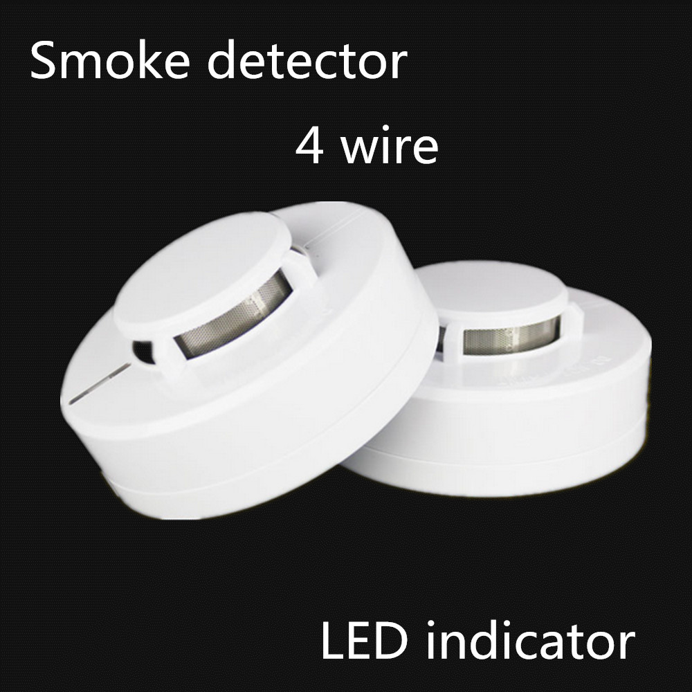 4 Wires Network Smoke Detector LED indicator Dustproof and Mothproof DC9-35V Smoke Sensor Fire Detector Alarm Home system wired smoke detector anti light mothproof dustproof
