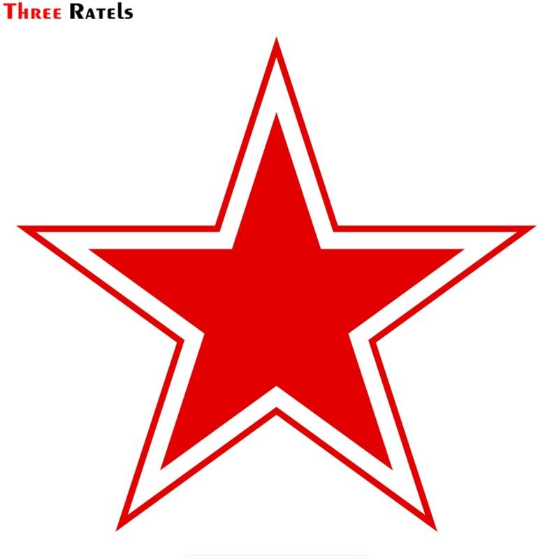 Three Ratels TZ-928# 14.2*15cm 1-4 Pieces Vinyl Car Sticker  Red Star Ussr Auto Car Stickers