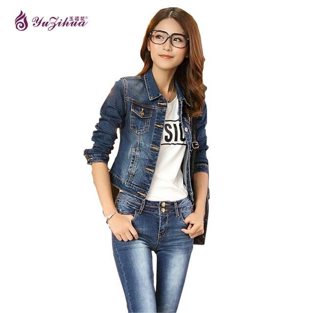 a3d26b18d3c Jaqueta Jeans Jacket Women Bomber Jacket Slim Jean Jacket Chaquetas Mujer Jaqueta  Feminina Jaquetas Femininas Bolero Women