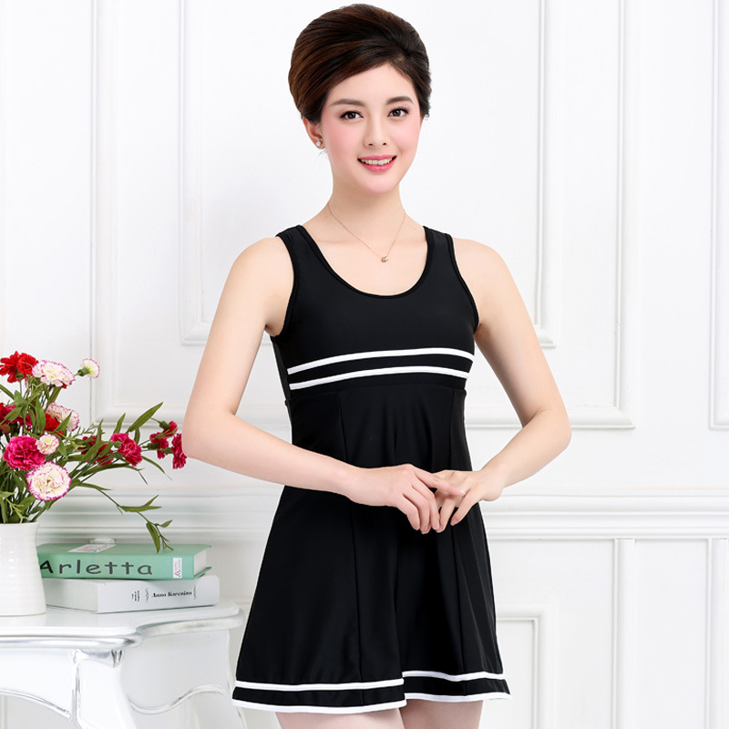 Pregnant women swimwear large size fat mm swimsuit women cover belly conservative thin dress type Siamese fertilizer plus mother staerk swimsuit skirt type conjoined steel supporting small chest belly thin cover gather conservative large code hot swimwear