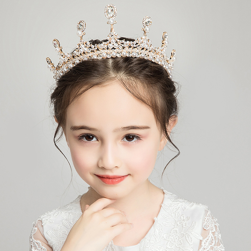Princess Crown Girls Birthday Crystal Crown Kids Show Party Kids Sophia Hair Accessories(China)