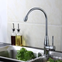 Freeshipping Classic Kitchen Cozinha Chromed Single Lever Single Hole Swivel Hot And Cold Kitchen Faucet Mixer