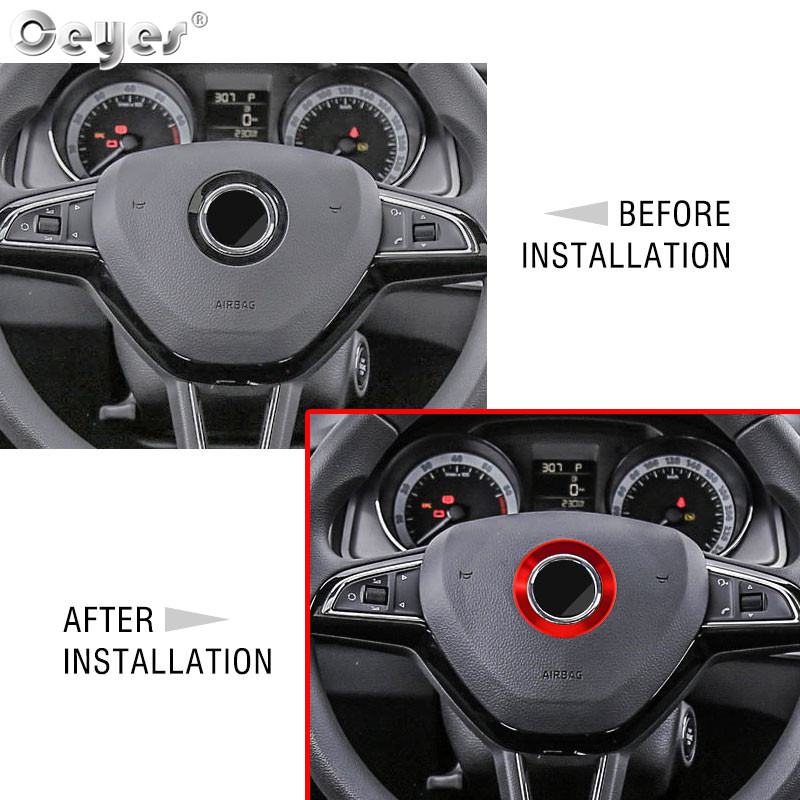 Car steering wheel decoration circle ring sticker for BMW (26)