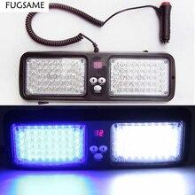 Visor Led blue red flashing light lamp 86Led Car/Auto interior decorative strobe Emergency warning led