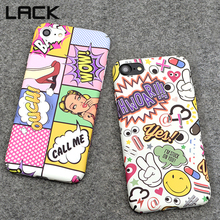 LACK Sexy Girl Graffiti Letter Phone Cases For iphone 7 Case For iphone 7 7Plus Fashion Red Lip Wave Point Hard Back Cover