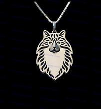 Оптовая продажа ожерелье с котом из норвежского леса новые модные