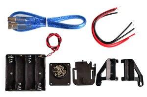 Image 3 - Nouveau moteur de suivi dévitement Robot intelligent Kit de châssis de voiture encodeur de vitesse boîte de batterie 2WD module à ultrasons pour kit Arduino
