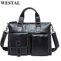 100 Genuine Leather Men Bag Shoulder Bags Brand New Vintage Laptop Business Men S Travel Bags