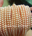 Wholesale Top Real pearl Round Bead Pink Natural pearl highlight Fashion pearl 37m Loose Beads women Jewelry Party Gift